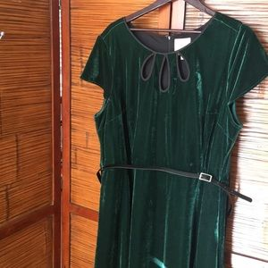 ModCloth Velvet Midi Dress in Emerald Size 4x